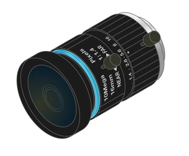 The 16 mm C-mount lens