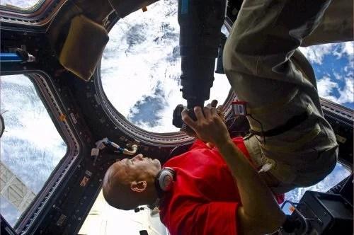 ESA astronaut Luca Parmitano aboard the International Space Station