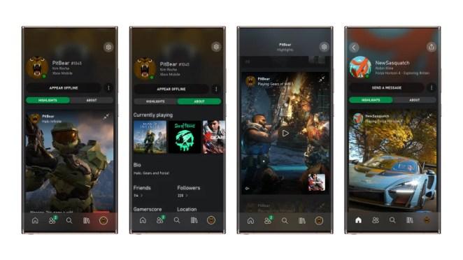Xbox Mobile App Profiles