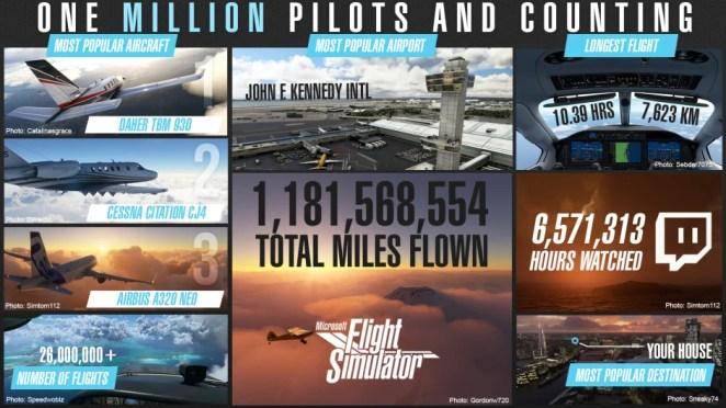 Image showing Microsoft Flight Simulator player stats.
