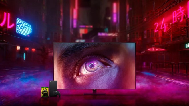 Samsung QLED Limited Edition Cyberpunk 2077 TV