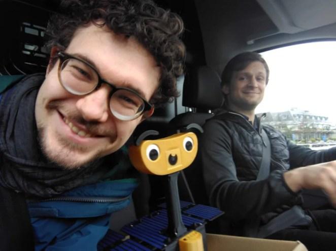 Robotic engineers Maximilian Ehrhardt and Miro Voellmy