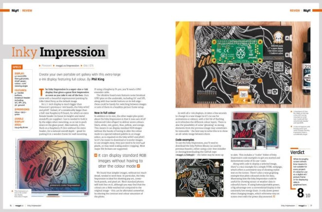 076-077 MagPi#102 REVIEW InkyImpression