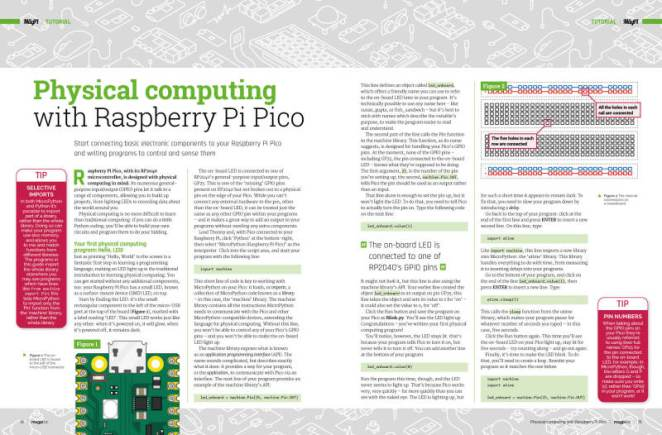 Physical computing Raspberry Pi Pico