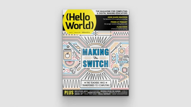 Cover of issue 15 of Hello World magazine