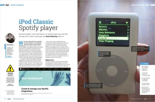 iPod Classic Spotify player