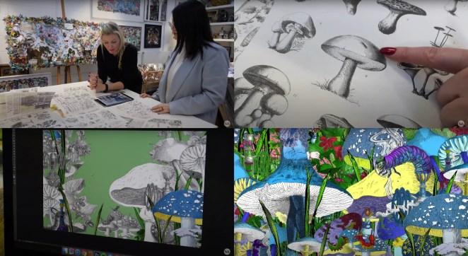 Illustrating Alice in Wonderland VR
