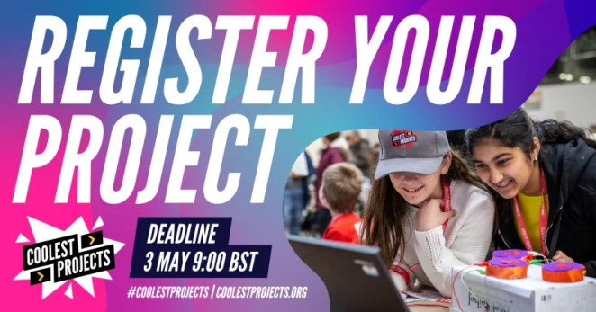 Register your project for the Coolest Projects online showcase