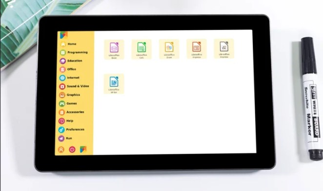 RasPad OS makes Raspberry Pi OS touch- friendly, adds support for the rotating screen, and provides an on-screen keyboard