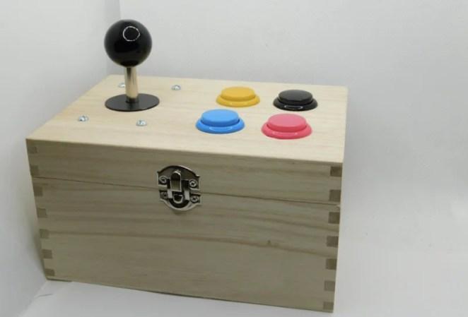 home made retro gaming joystick box