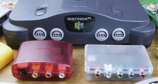 RetroTINK-2X MINI (left) and 2X Pro (right). The MINI pairs great with N64