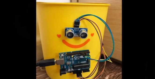 Smart trash can Arduino project