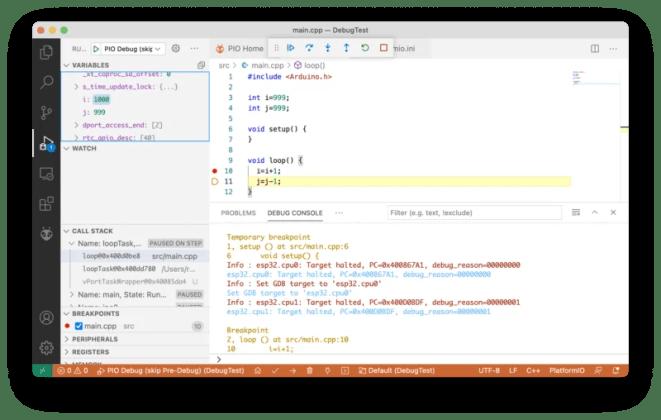 Figure 04 Debugging with Visual Studio Code