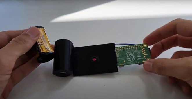 analogue to digital camera film with raspberry pi stuff in