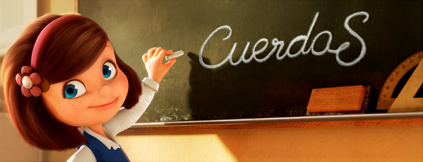 Poster do curta de animação Cuerdas, de Pedro Solís Garcia