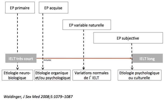 étiologies en fonction des profils d'éjaculation prématurée selon l'ISSM