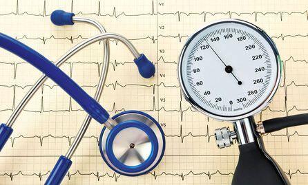 Stéthoscope et ECG