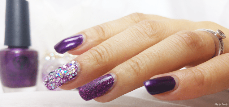 W7 Nail Bling Purple Point Swatches 1
