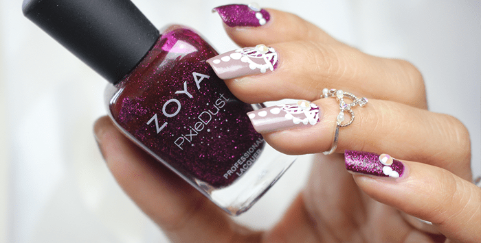 Freehand Nail Art inspired by Yagala