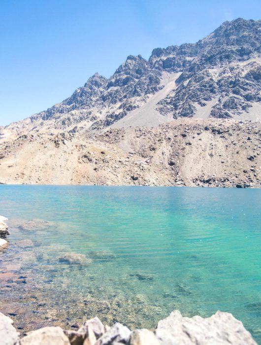 Ski Portillo no verão_laguna