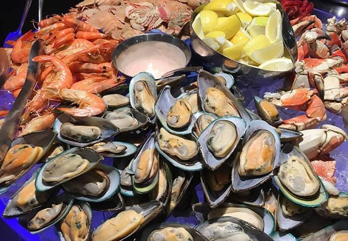 Shellfish at eight restaurant