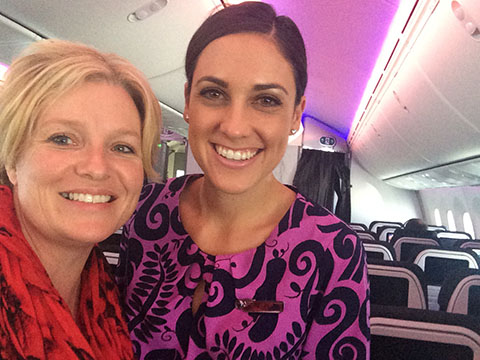 Air NZ selfie