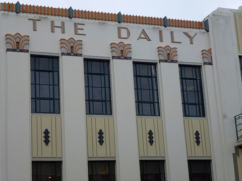 Art deco Daily Telegraph Napier