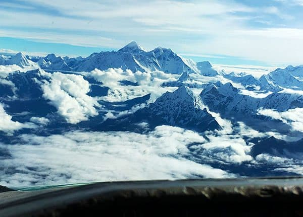 Mt Everest from cockpit