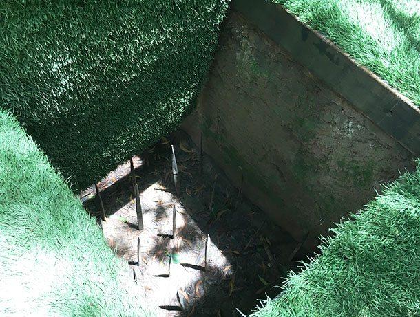 Cu Chi tunnels trap