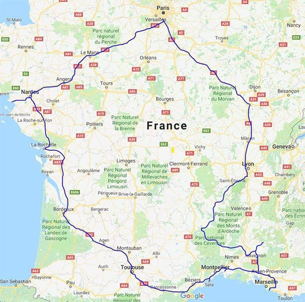 Self drive itinerary in France