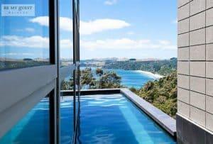 Luxury infinity pool Waiheke Island