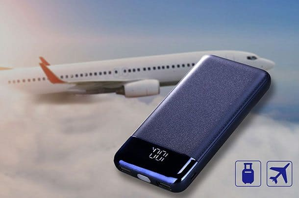 Power bank in cabin luggage