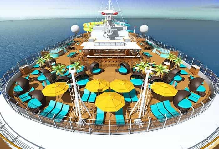 Adults only pool on Carnival Panorama