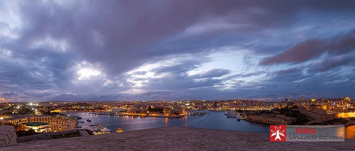 Three cities at night, Malta