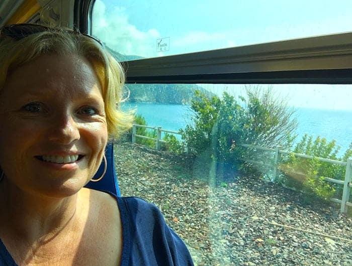 Taking the train in Cinque Terre