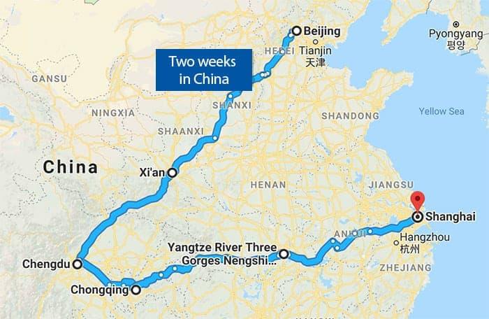 China tour map 2019
