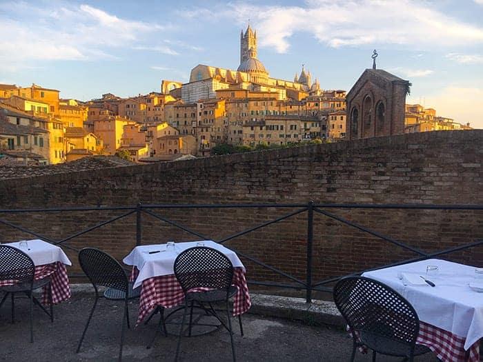Dinner in Siena