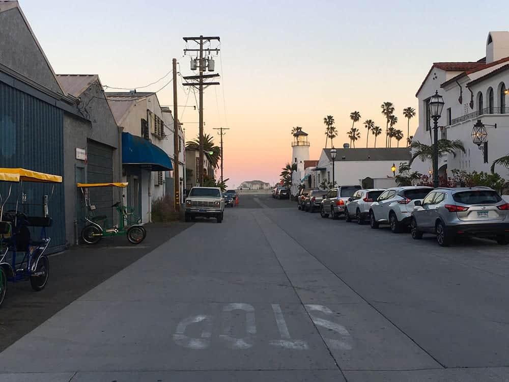 Funk Zone to the sea view in Santa Barbara