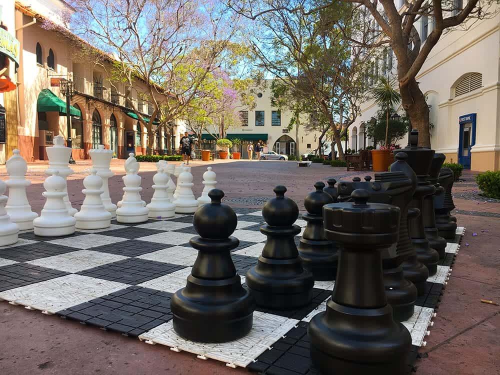 Chess board off State Street Santa Barbara