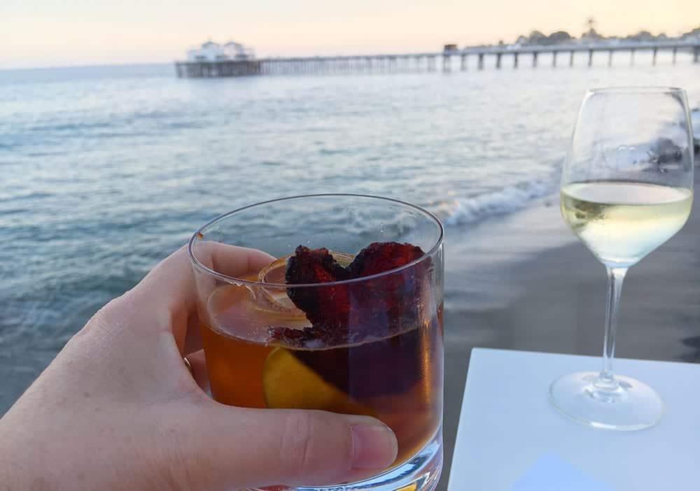 Whiskey in Malibu