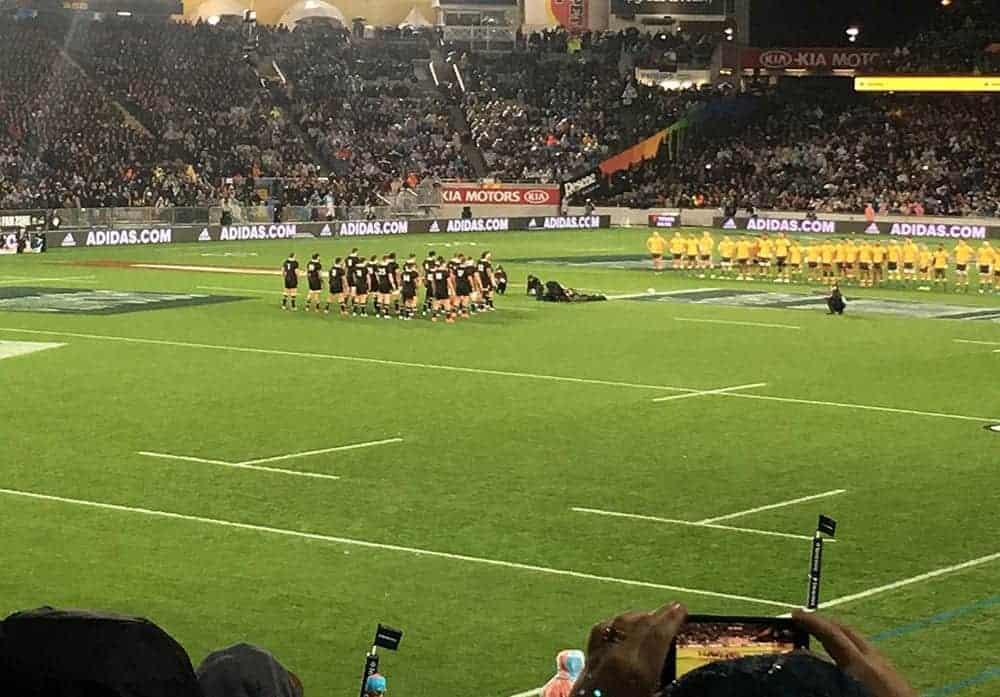 All Blacks haka against Australia Eden Park