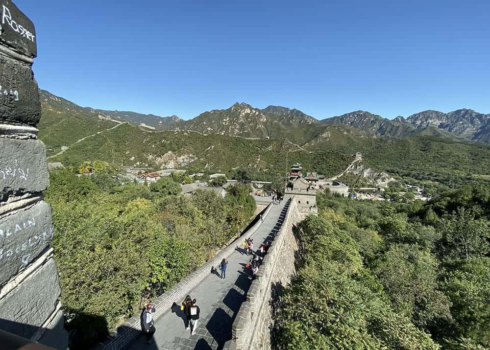 Great wall of china from Juyongguan