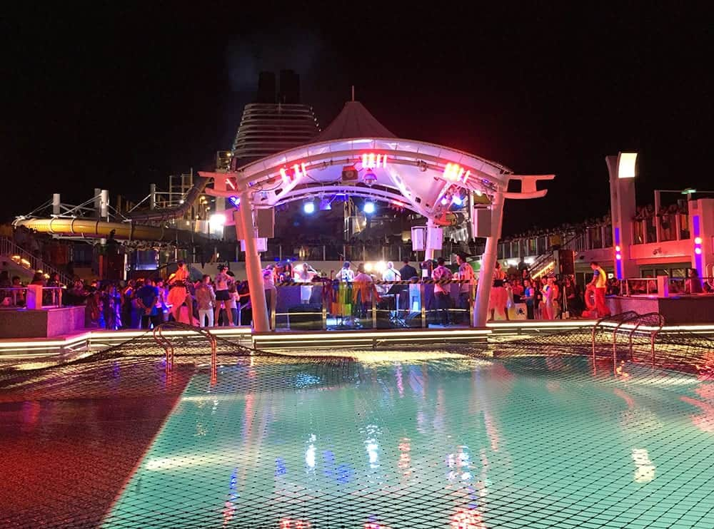 Closing night party on Genting Dream cruise