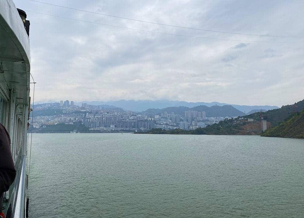 High rise buildings lining the Yangtze river