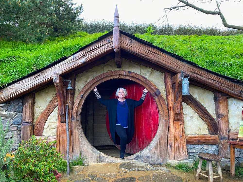 Megan at Hobbiton