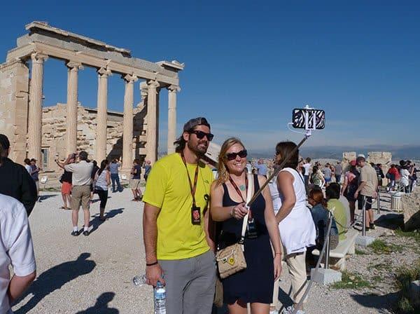 Acropolis selfie Athens