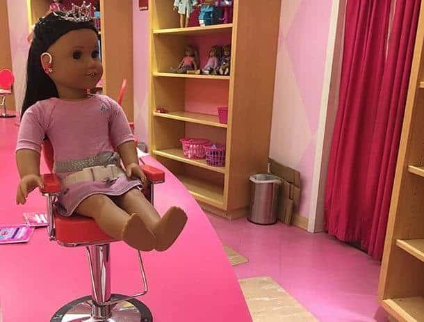 American Girl hair salon