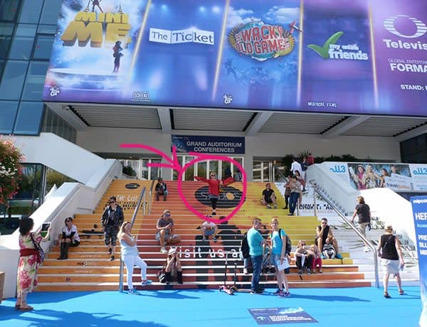 Cannes blue carpet