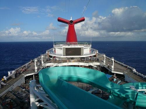 Carnival Cruise pool deck