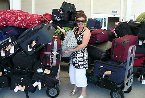 Cruise ship luggage